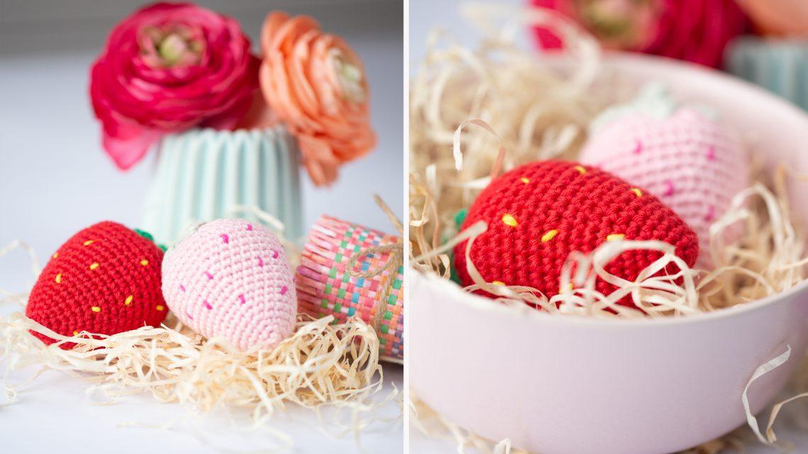Süße Erdbeeren häkeln – Kostenlose Anleitung