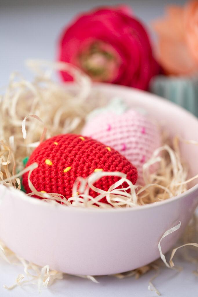 Süße Erdbeeren häkeln - Kostenlose Anleitung