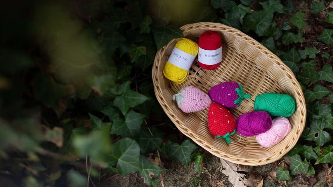 Erdbeeren häkeln – Freebie