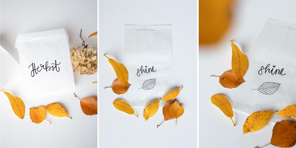 Windlichter aus Brottüten selber machen - DIY Herbstdeko basteln