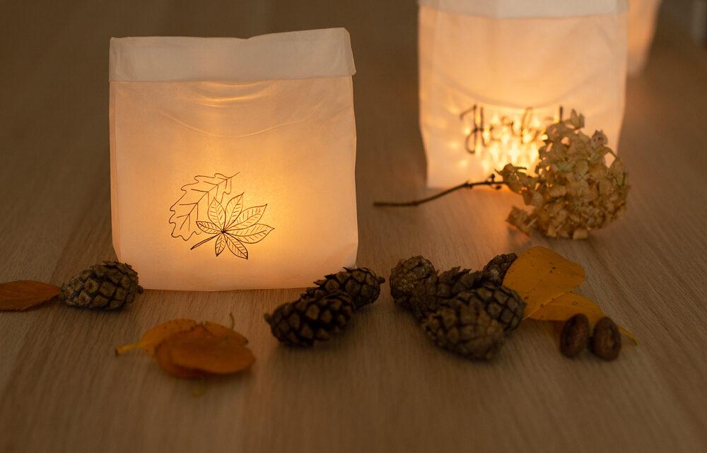 Windlichter aus Brottüten selber machen – DIY Herbstdeko