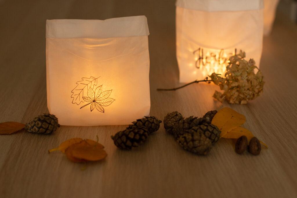 DIY Papier Windlichter basteln in 5 Minuten