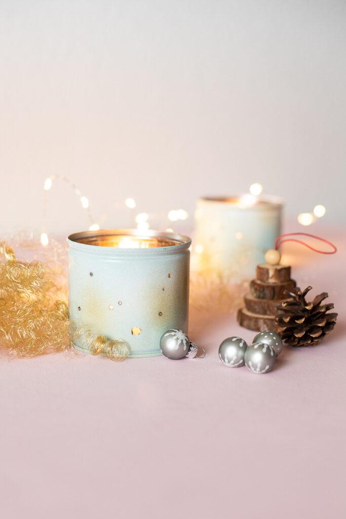 DIY Lichterdosen aus Konservendosen selber machen - Upcycling Weihnachtsdekoration