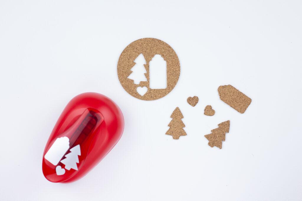Stempel selber machen aus Kork - DIY Weihnachtsdeko für Geschenke