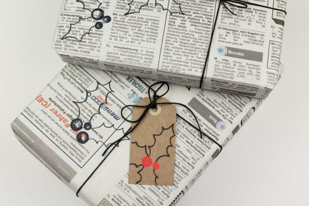 DIY Challenge November - Geschenkpapier selbst machen