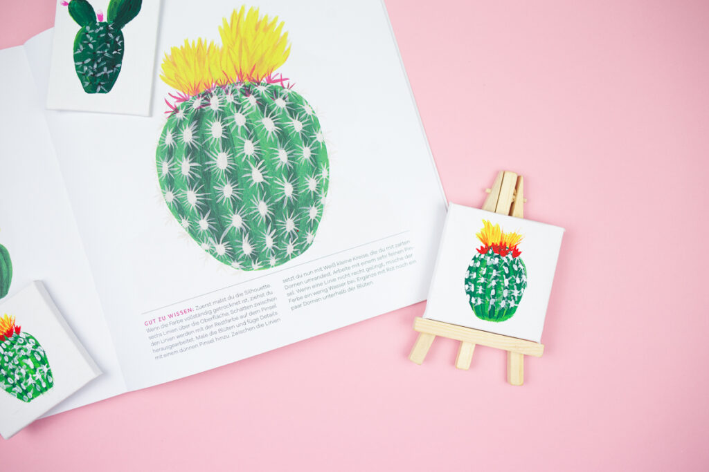 Buchvorstellung 50 x Acryl. – Flamingo, Kaktus und Co. Die beliebtesten Acryl−Motive in nur 5 Schritten malen.