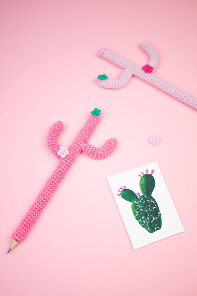 Kaktus Stift - Häkelprojekt für Anfänger