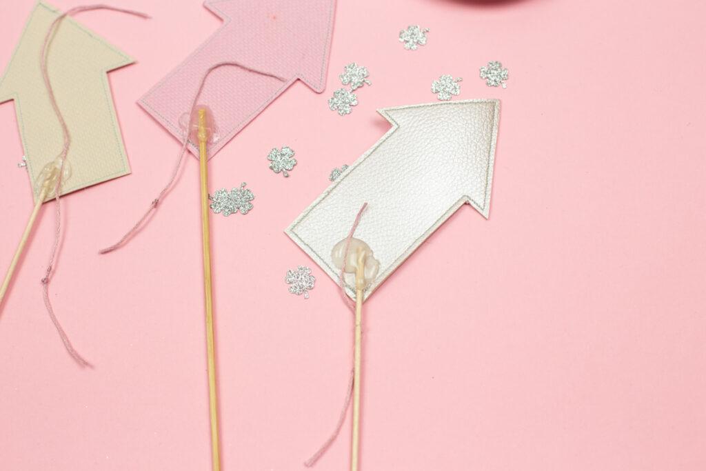 Silvester Glücksraketen selber machen - DIY Tischdeko