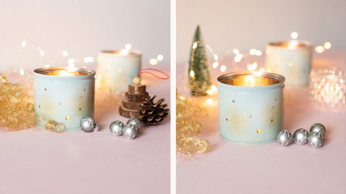DIY Weihnachten – Windlichter aus Dosen