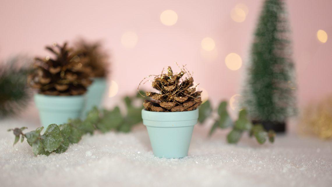 Einfache Weihnachts Deko – Last Minute DIY Tischdeko