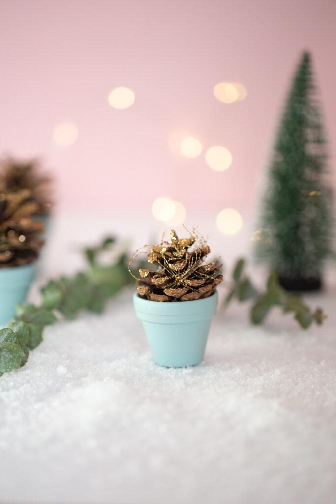 Einfache Weihnachts Deko - Last Minute DIY Tischdeko