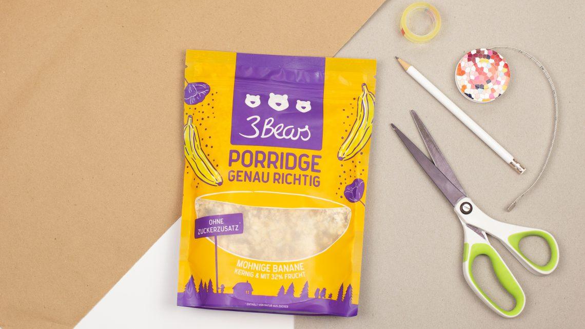 Papiertüten falten – Upcycling für Porridgebeutel [Werbung]