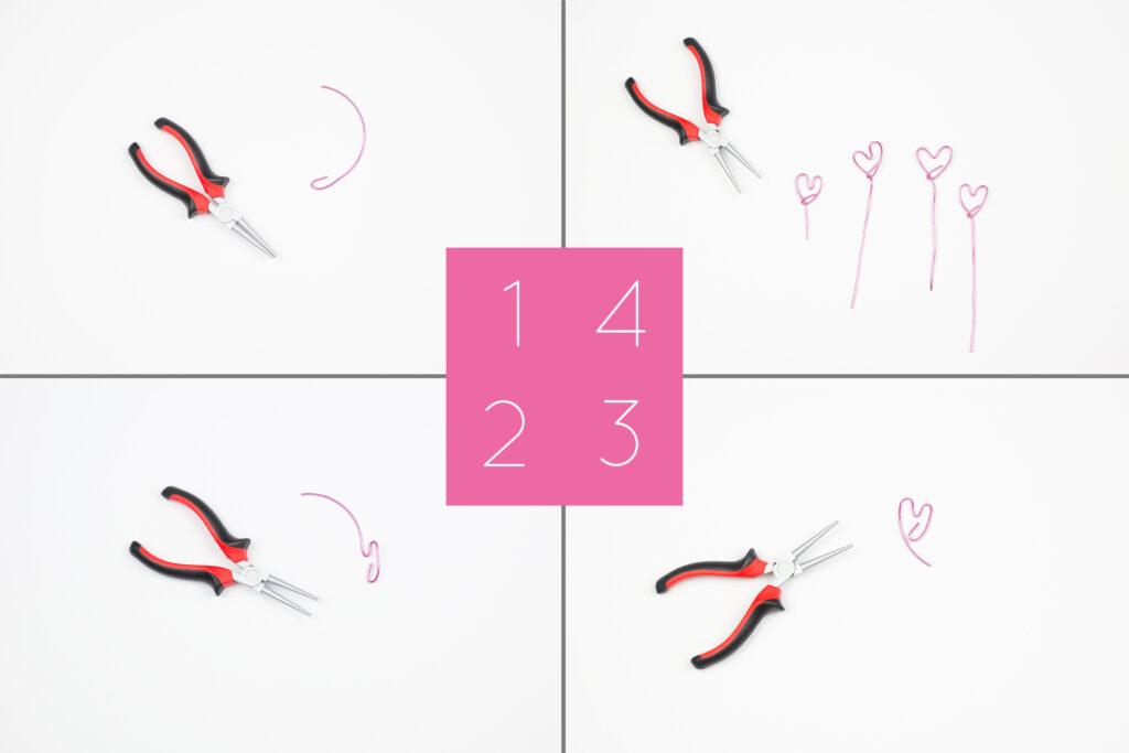 DIY Upcycling Fotohalter mit Herz aus Eierkarton und Draht