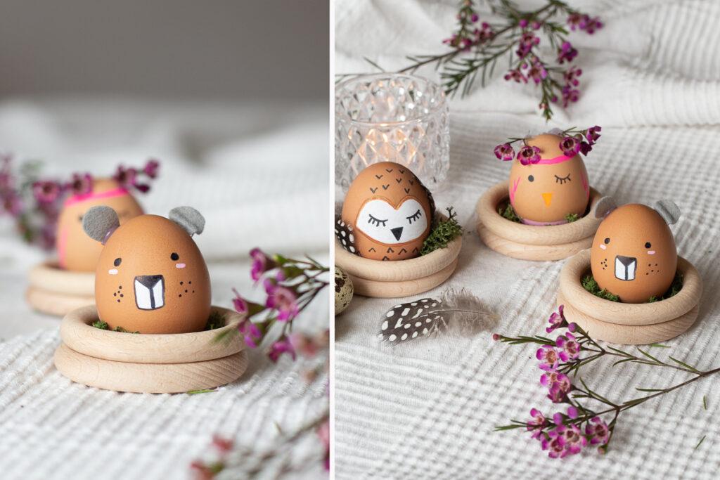 Ostereier als Tiere - tierische Ostern