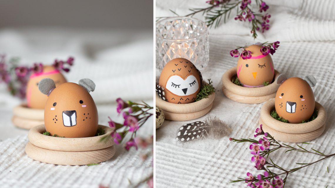 Ostereier anmalen – tierische DIY Ostern