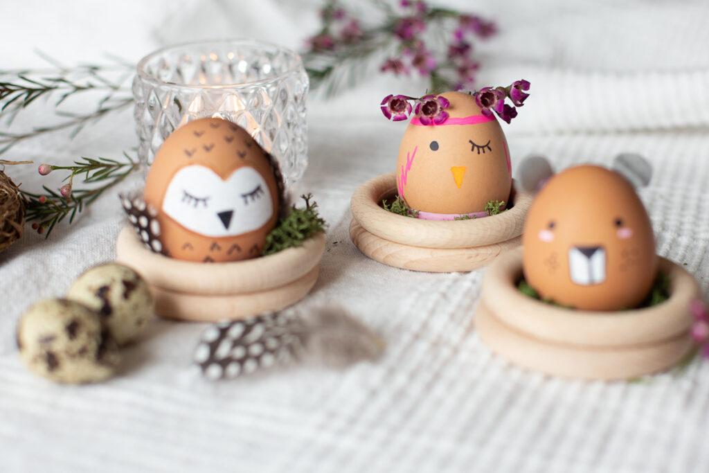 Ostereier anmalen - tierische DIY Ostern