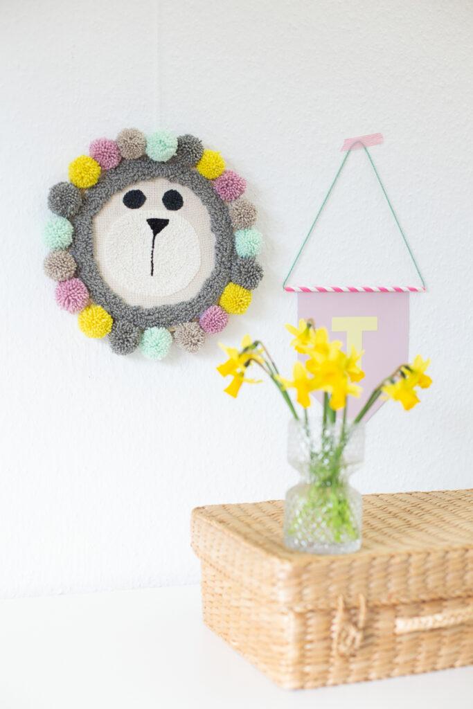 Punch Needling Dekoration für das Kinderzimmer