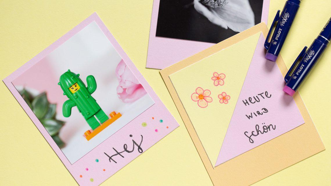 DIY Polaroid Grußkarten basteln [Werbung]