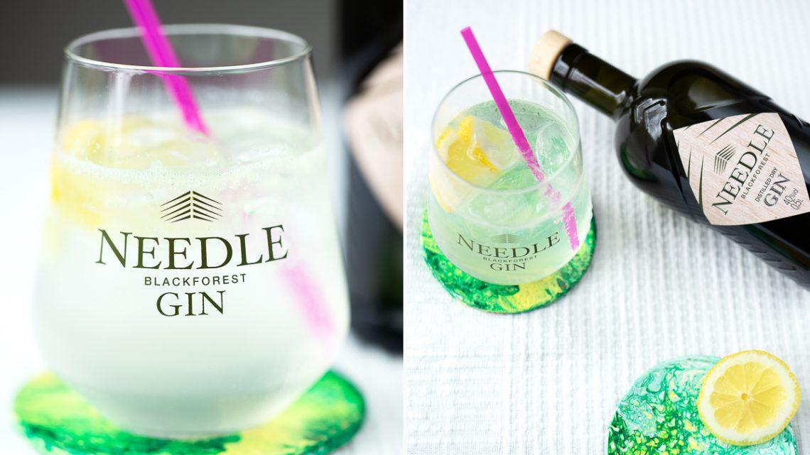 DIY Korkuntersetzer im Pouring Look mit Needle Gin [Werbung]