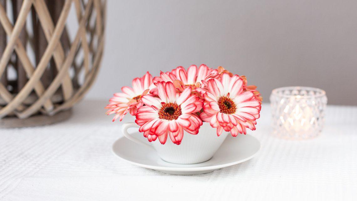 Blumentasse zum Muttertag – Blümchenkaffee mal anders