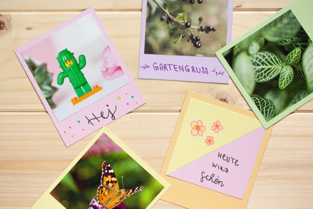 Polaroid Grußkarten zum Muttertag mit PILOT