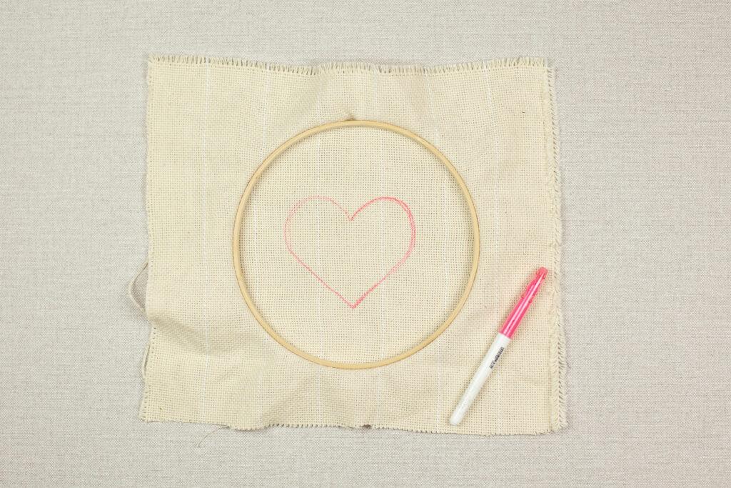 Punch Needle Herz zum Muttertag