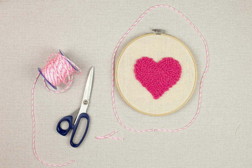 Herz Bild selber machen - DIY Geschenkidee zum Muttertag