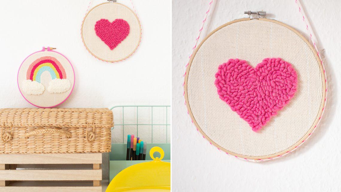 Herz Bild selber machen – DIY Geschenkidee zum Muttertag