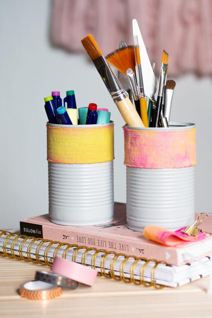 DIY Stiftehalter aus Konservendosen selber machen - DIY Upcycling