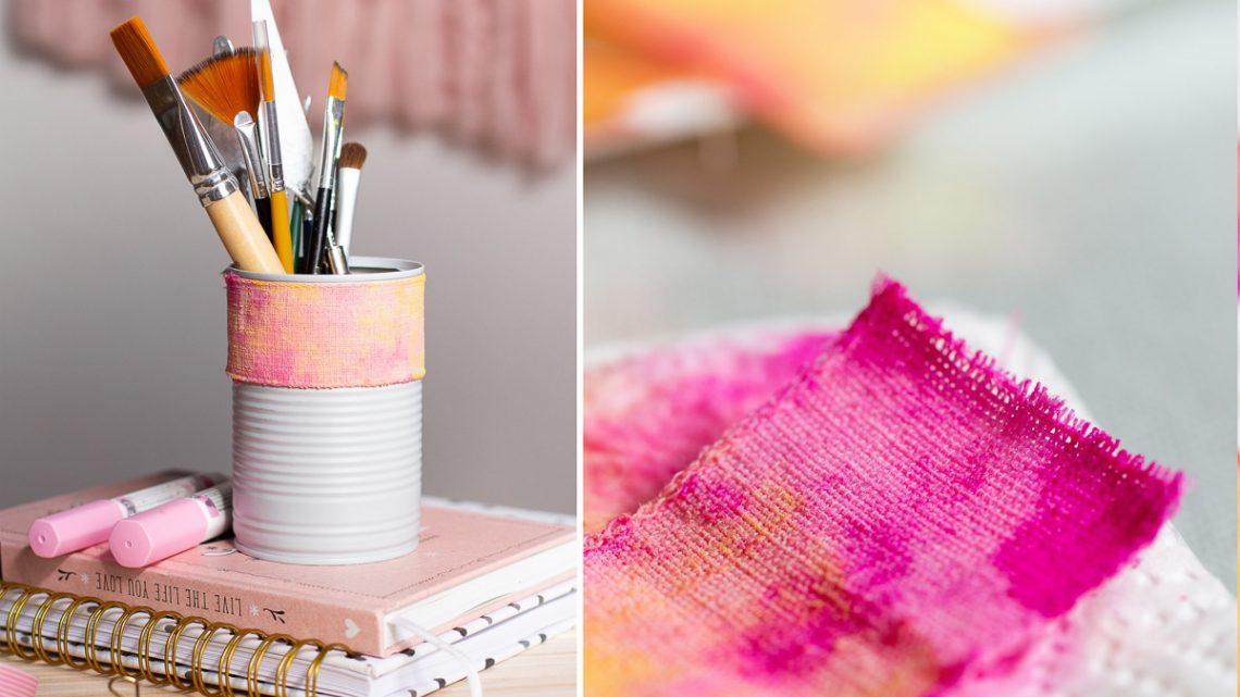 DIY Stiftehalter aus Konservendosen selber machen