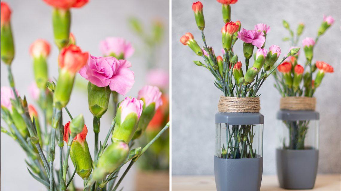 Vasen Upcycling aus Altglas im Skandi Look