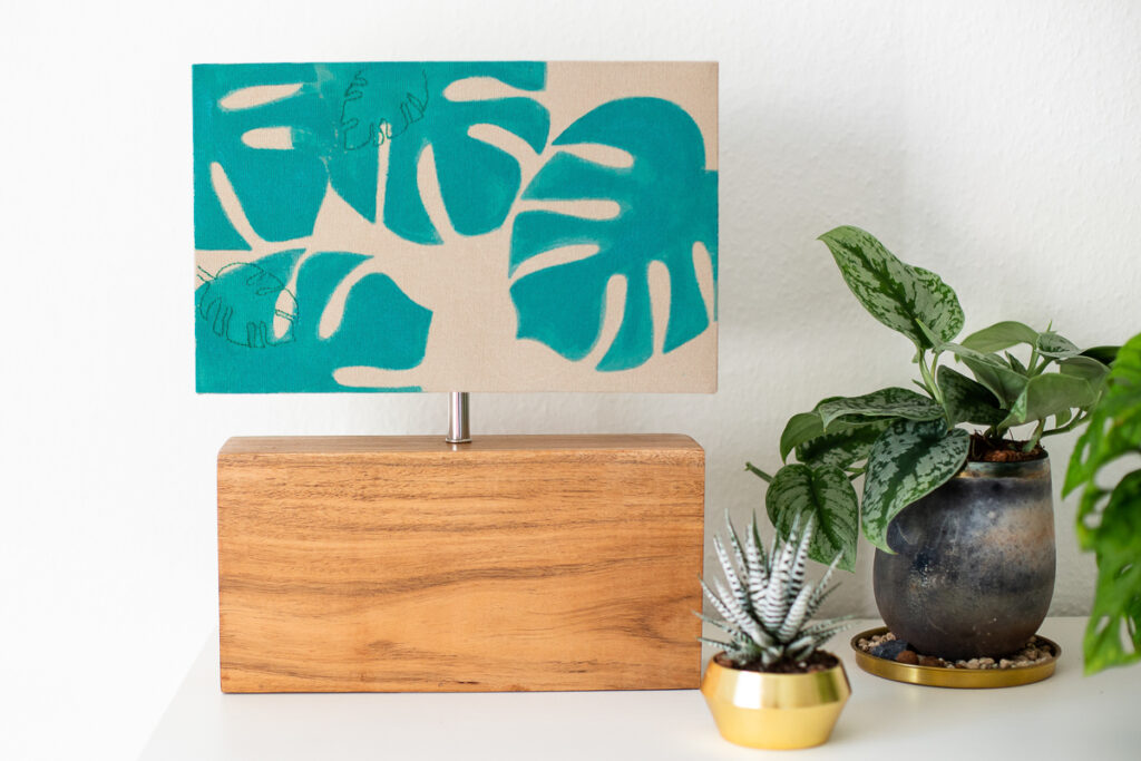 DIY Monstera Lampe - Urban Jungle Feeling