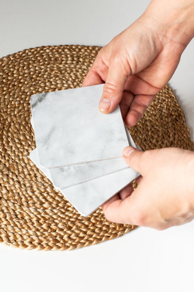 DIY Marmor Untersetzer selbermachen