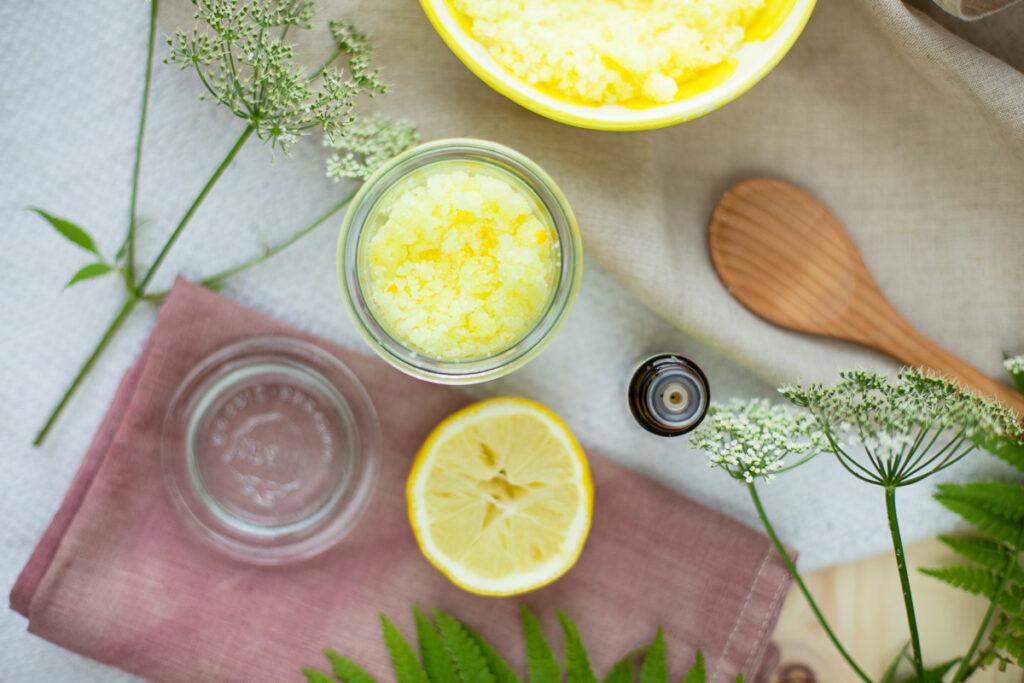 Zitronen Zucker Peeling selbermachen
