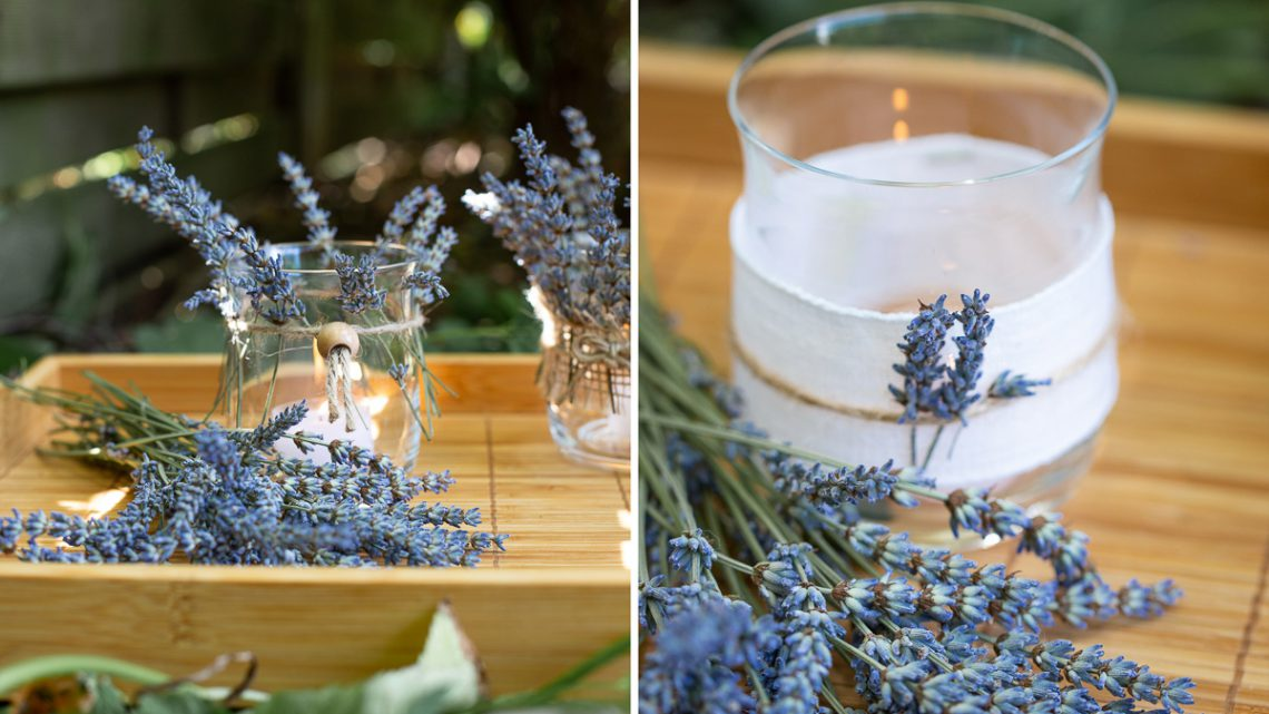 Duftige DIY Lavendel Teelichter selber machen