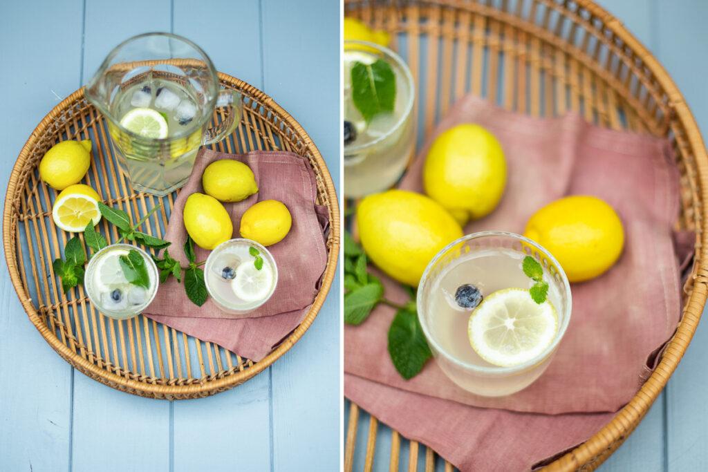Zitronen Limonade selber machen