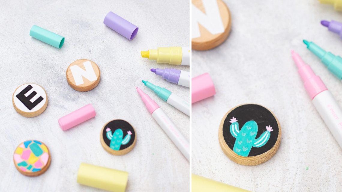 DIY Letter Magnete aus Holz selber machen [Werbung]