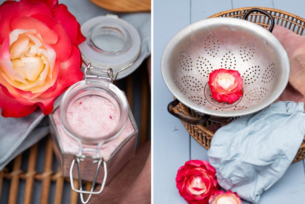 Leckeren Rosenblütenzucker selber machen