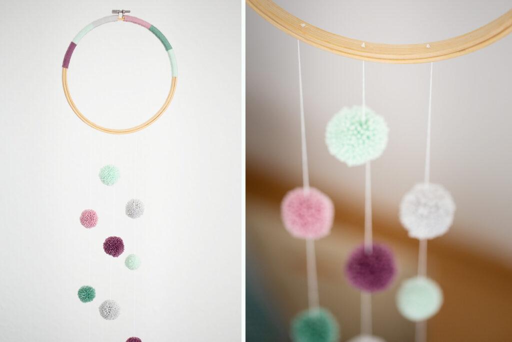 DIY Fiber Rainbow - Stickrahmen Deko selber machen