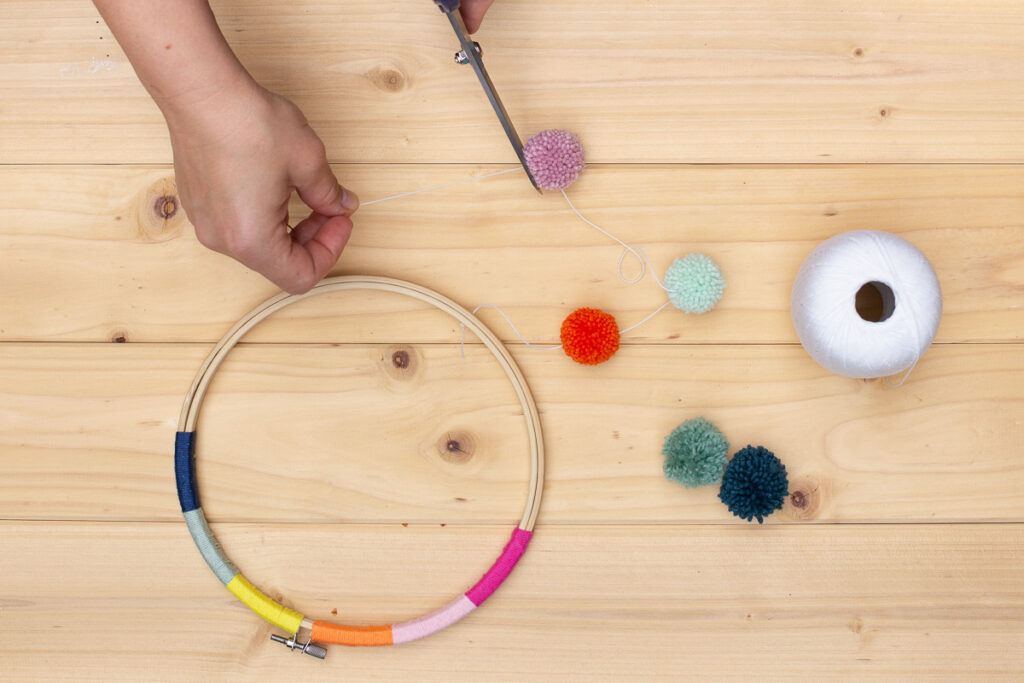DIY Fiber Rainbow Dekoration selber machen