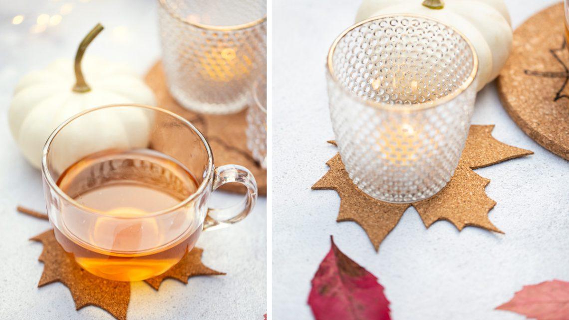 DIY Untersetzer aus Kork selber machen – Herbstdeko für den Tisch