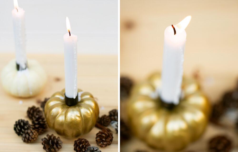 DIY Kürbis Kerzen selber machen – Leuchtende Herbstdeko basteln