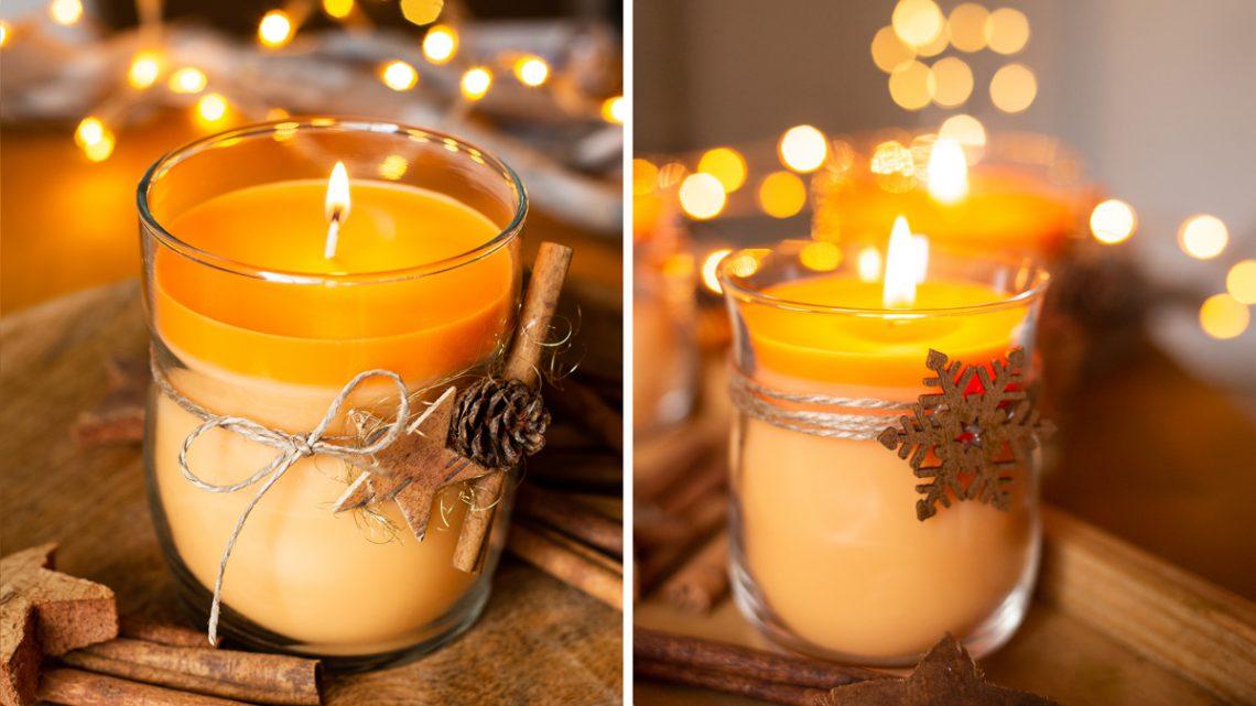 DIY Duftkerzen im Glas selber machen – Geschenkidee zu Weihnachten