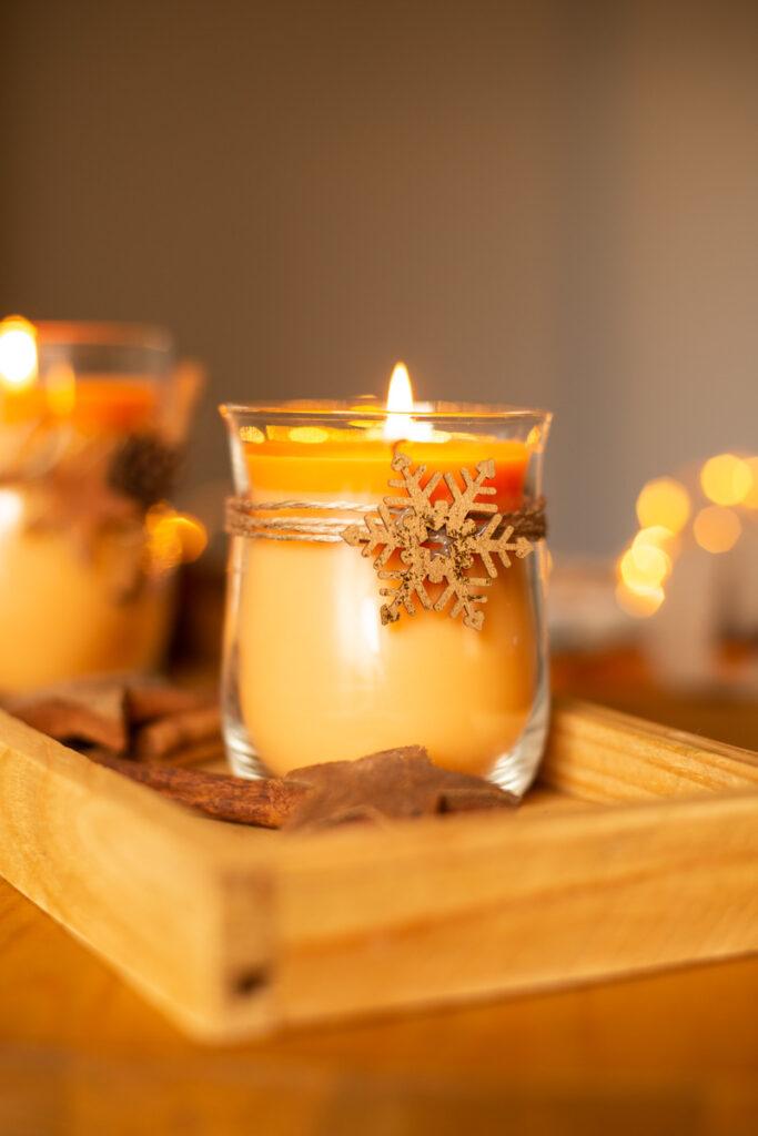 DIY Duftkerzen im Glas selber machen - Geschenkidee zu Weihnachten