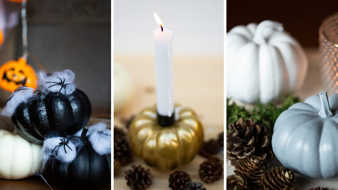 Halloween Deko basteln mit Kürbissen – die besten DIY Ideen!