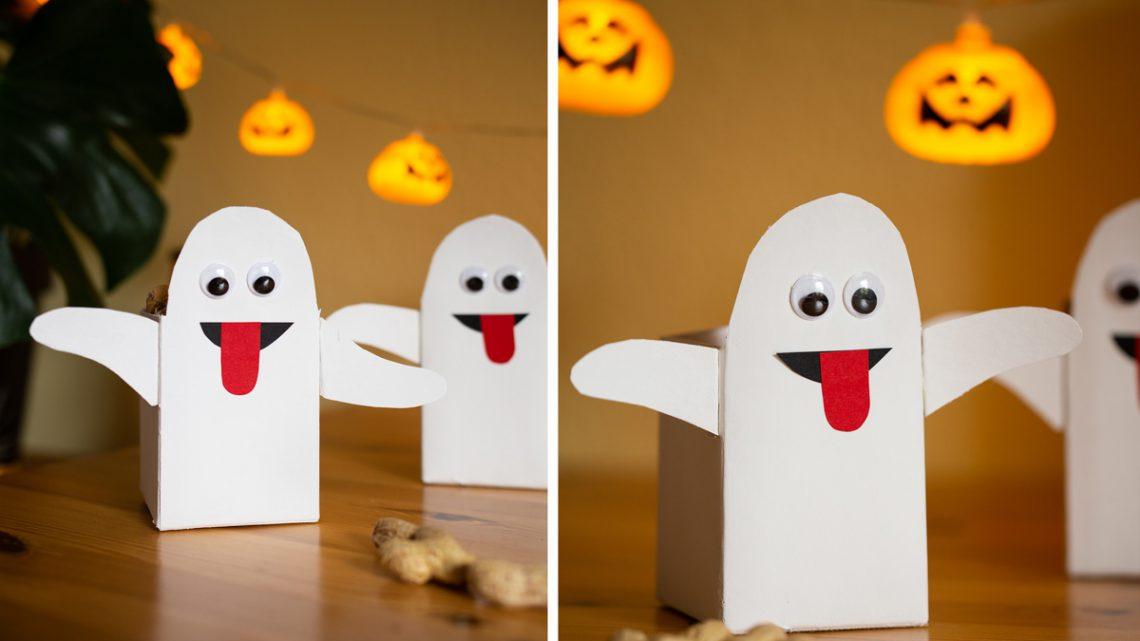 DIY Halloween Party Deko aus Tetrapack basteln – die Geister sind los