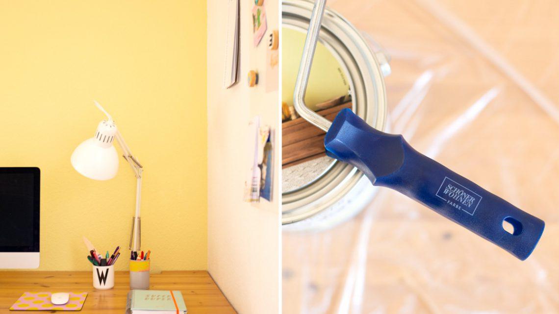 DIY Homeoffice Makeover – Mit frischem Anstrich neu einrichten [Werbung]