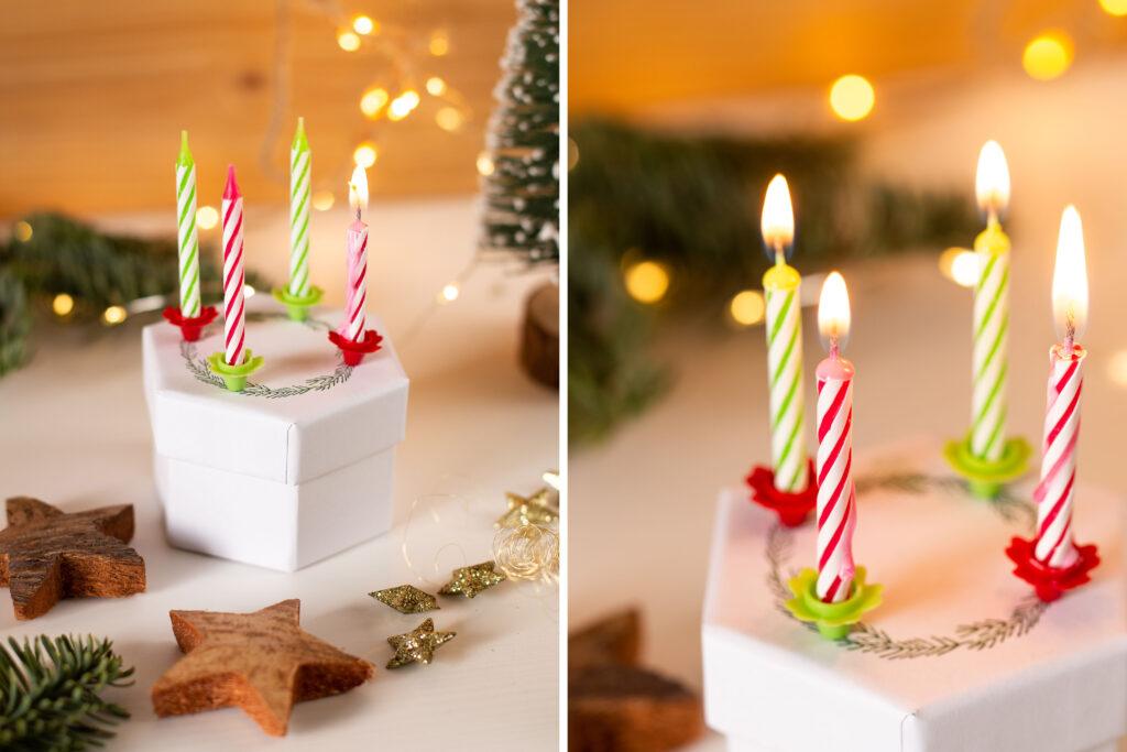 DIY Mini Adventskranz selber machen - Weihnachten to go mit Anleitung