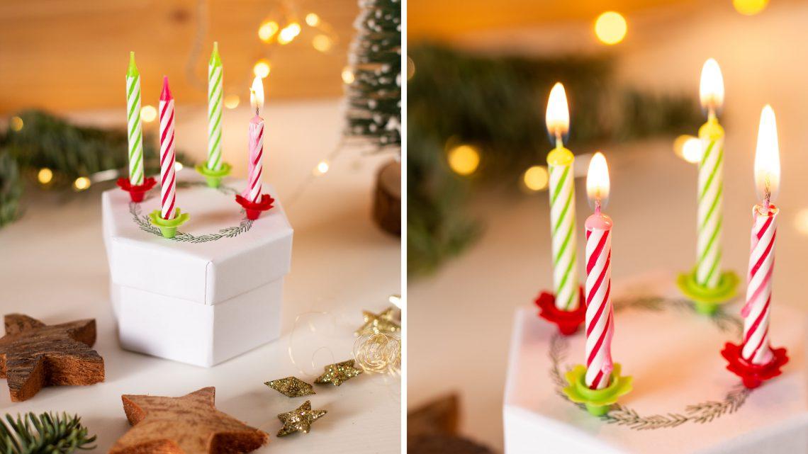 DIY Mini Adventskranz selber machen – Weihnachten to go mit Anleitung