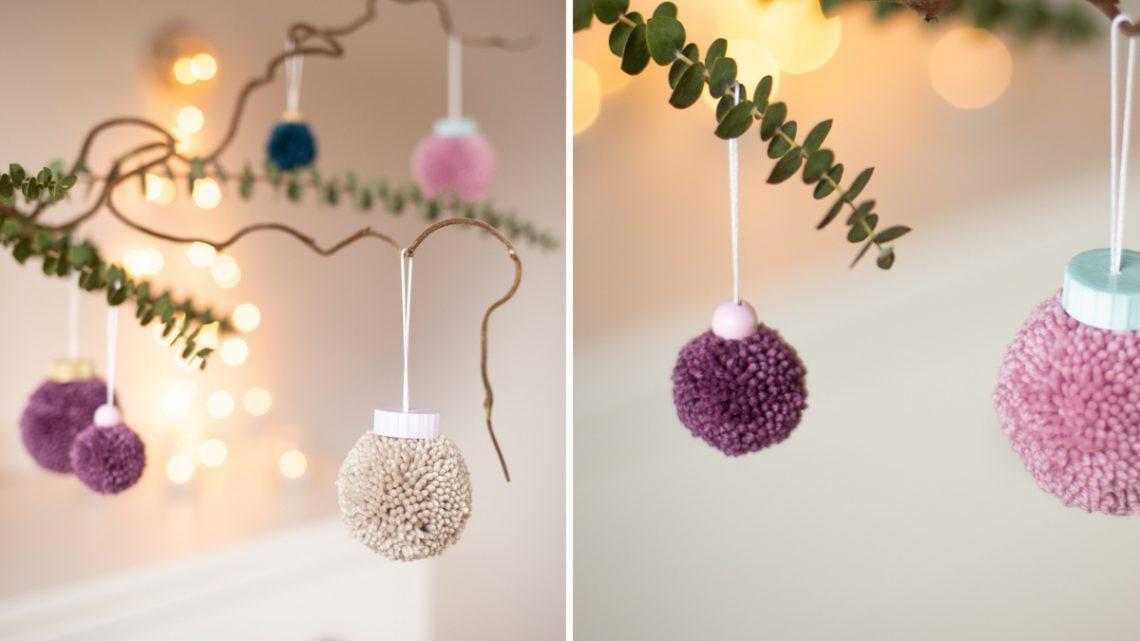 DIY Weihnachtsdeko aus Wolle basteln